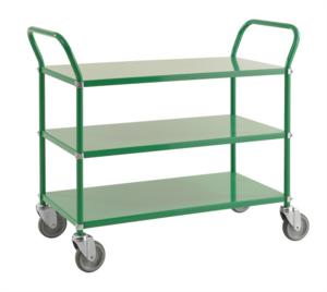 Rullvagn med 3 hyllor, Grön