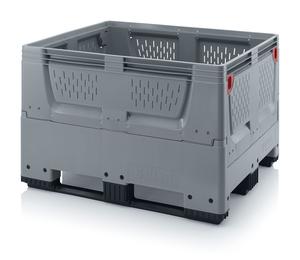 Fällbar plastcontainer med ventilation, mellan | 3 medar