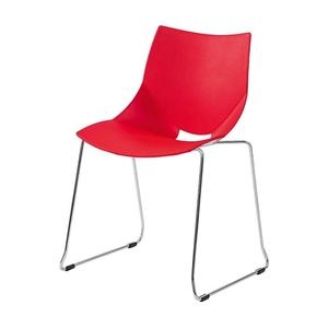 Stol Shell/Medstativ, Röd/Krom