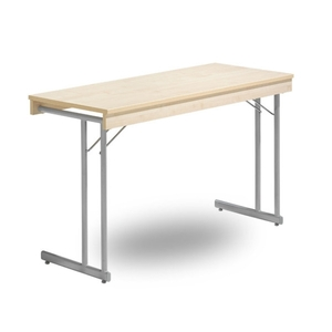 Fällbart bord, Kongress Style Ram 1400 x 600 x 730 silvergrå/bok