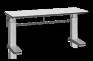 Arbetsbord MW 500 2000x800 mm inkl. Bordsskiva Grå Laminat