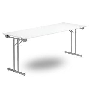 Fällbart bord TJUSIG 1800 x 800 x 730, Silvergrå/Vit