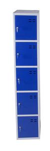 Kläd- och förvaringsskåp med 5 fack, Blå