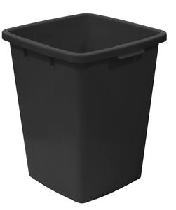Plastkärl, 90 L, Svart