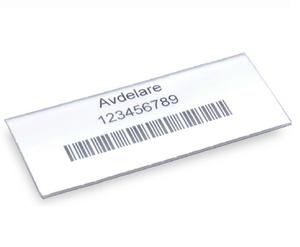 Etikett med hållare 75x30