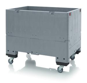 Fällbar pallcontainer isolerad, 500L | 4 hjul