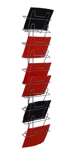 Broschyrställ Vägg, liggande, A4-format