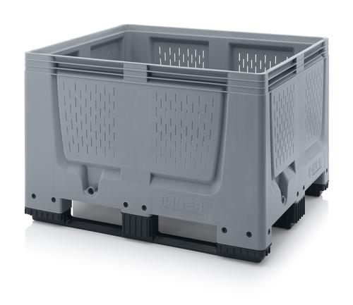 Stor plastlåda med ventilationshål
