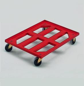 Backvagn med gallerförsedd mittdel, 250 kg, röd