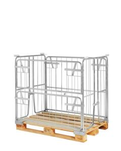 Pallcontainer, 1200x800x1000 mm (öppning långsida)