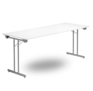 Fällbart bord TJUSIG 1800 x 700 x 730, Silvergrå/Vit