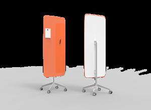 Mobil skrivtavla, Flow, soft orange