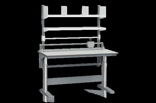 Höj- och sänkbart packbord med hyllor, rullhållare & skäraggregat |