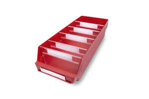 Lagerlåda 600x240x150 | Röd | 10 st