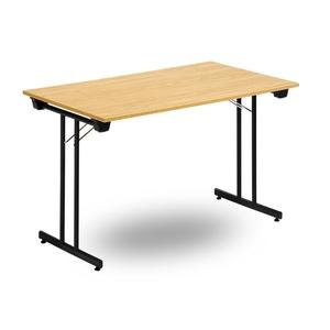 Fällbart bord TJUSIG 1800 x 700 x 730, Svart/Ek