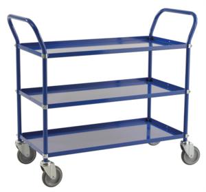 Rullvagn med 3 hyllor, Blå