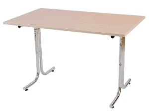 Millie bord, 1600x800, Vit/Krom