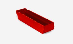 Lagerlåda 2L   400x94x80   Röd   50 st