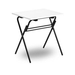 Fällbart skrivbord, Examen, svart/vit