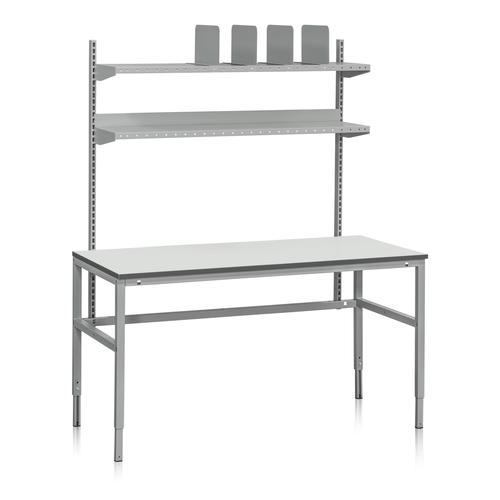 Packbord med två hyllor & hyllavdelare | 300kg