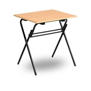 Fällbart skrivbord, Examen, svart/ek