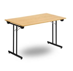 Fällbart skrivbord, FLITIG 1200 x 600 x 730, Svart/Björk