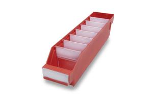 Lagerlåda 400x90x95 | Röd | 40 st