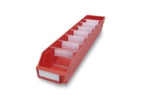 Lagerlåda 600x120x95 | Röd | 30 st