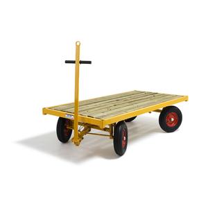 Transportvagn 3, med broms, 4-hjulsstyrd, 1500 kg