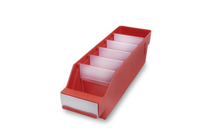Lagerlåda 300x90x95 | Röd | 40 st