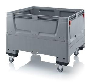 Fällbar plastcontainer 120x100x93 | 4 hjul