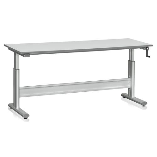 Höj och sänkbart arbetsbord 150 kg | Med vev