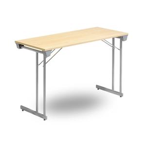 Fällbart bord, Kongress Style 1200 x 500 x 730, Krom/Bok