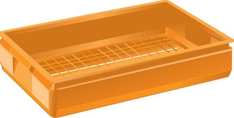 Brödback 400x600x125 mm   Orange