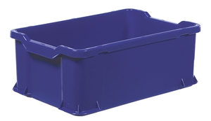 Plastback | 600x400x225mm | Blå