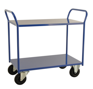 Rullvagn, 2-plan, 1080x450x975 mm, Blå