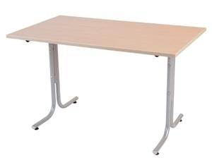 Millie bord, 1600x800, Vit/Silver