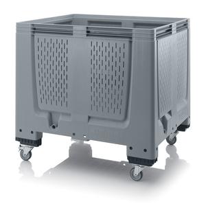 Plastlåda stor med ventilation 120x100x114 | 4 hjul