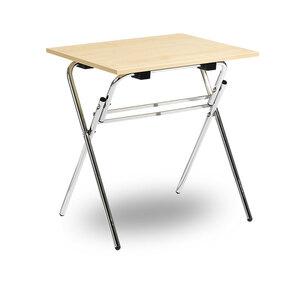 Fällbart skrivbord, Examen, krom/björk