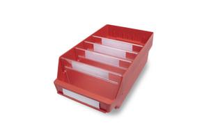 Lagerlåda 400x240x150 | Röd | 10 st