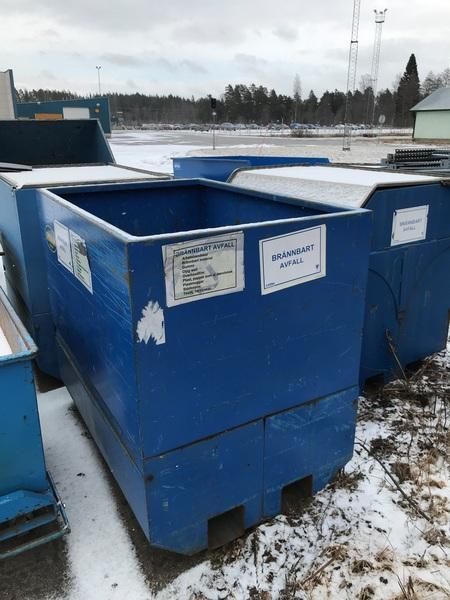 Begagnad bottentömmande container | 1500x1000x1400mm