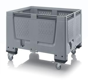 Plastlåda stor med ventilation 120x100x93 | 4 hjul