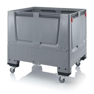 Fällbar plastcontainer 120x100x114 | 4 hjul