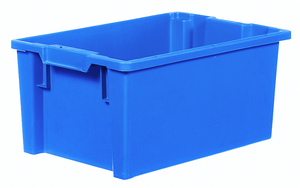 Stapelbar plastback 50 L   600x400x270 mm   Blå
