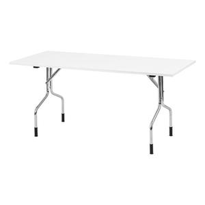 Fällbart bord Handy, 1400x800, Vit/Krom