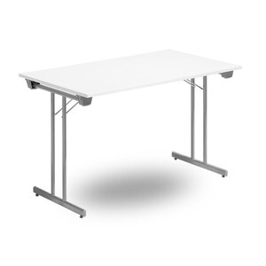 Fällbart skrivbord, FLITIG 1200 x 700 x 730, Silvergrå/Vit