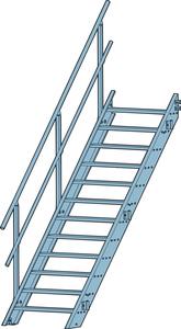 Räcke Alu.trappa 900 5-steg