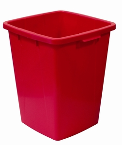Plastkärl, 90 L, Röd