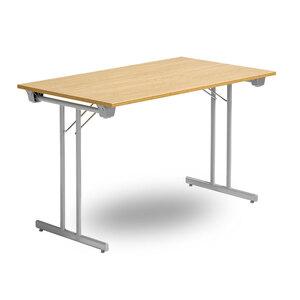 Fällbart bord TJUSIG, 1800 x 700 x 730, Silvergrå/Ek