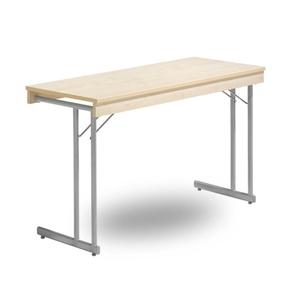 Fällbart bord, Kongress Style Ram 1200 x 500 x 730 silvergrå/ek